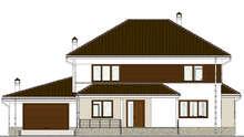 План большого коттеджа в европейском стиле общей площадью 285 кв.м