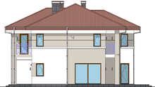 Стильный коттедж с балконами и колоннами