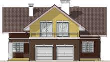 Стильный особняк с гаражом на два автомобиля и просторной террасой на его крыше