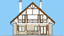 Проект классического загородного дома с мансардой площадью 162 кв.м.