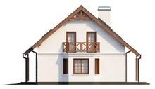Двухэтажный классический домик с балконом над эркером