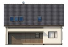 Загородный коттедж со встроенным гаражом