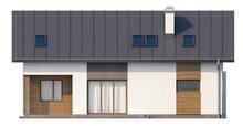 Загородный коттедж со встроенным гаражом и кабинетом на первом этаже