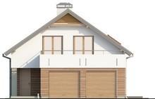 Большой мансардный коттедж с террасой над гаражом