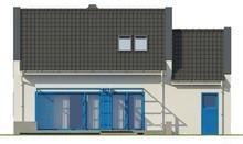 Мансардный дом с большими стильными окнами