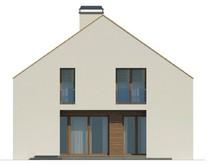 Загородный коттедж с большими мансардными окнами