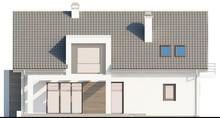 Дом с мансардой с одинарным гаражом