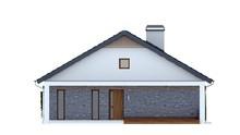 Проект коттеджа 12*12 с фронтальной террасой