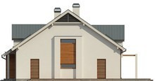 Яркий проект дома 10 на 13 с мансардой