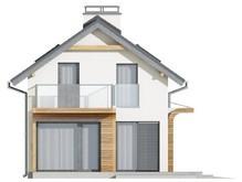 Проект особняка с оригинальным фасадом для большого участка