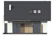 Проект простого компактного дома с двускатной кровлей