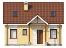 Проект классического симпатичного дома с двускатной крышей