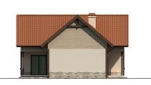 Проект романтичного маленького дома с мансардой для небольшого участка