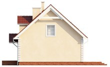 Проект аккуратного классического дома с двускатной крышей