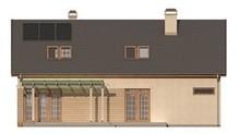 Проект дома с красивой мансардой и встроенным гаражом