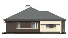Просторный одноэтажный коттедж с большими окнами