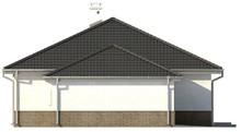 Проект одноэтажного дачного классического дома с четырехскатной кровлей