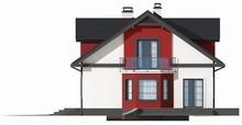 Проект аккуратного дома с гаражом и эркером