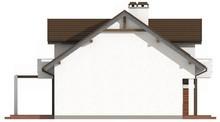 Проект дома с красивой необычной мансардой