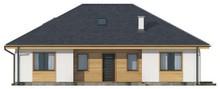 Проект одноэтажного дома классического стиля с четырехскатной кровлей