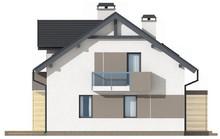 Проект малогабаритного красивого дома с мансардой