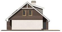 Проект классического дома с мансардой и сдвоенным гаражом