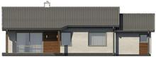 Проект комфортного одноэтажного дома с гаражом и небольшой террасой