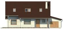 Экономичный проект коттеджа с мансардой и гаражом