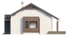 Одноэтажный коттедж с современными элементами фасадов