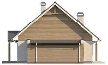 Проект двухэтажного дома с пристроенным гаражом для 1-й машины