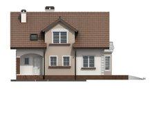 Проект дома с мансардой и эркером в традиционном стиле