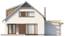 Проект дома с оригинальной мансардой