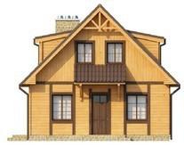 Проект дома с деревянным фасадом и печью на улице