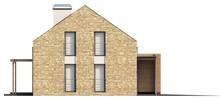 Проект современного загородного коттеджа с мансардой и гаражом