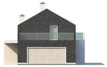 Проект современного коттеджа с оригинальным фасадом для узкого участка
