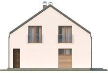 Мансардный дом с тремя спальнями на втором этаже