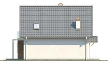 Проект мансардного загородного дома с кухней на южной стороне