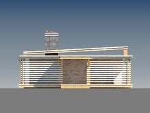 Проект модерновой дачи с плоской крышей