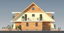 Оригинальный проект дома с двухскатной крышей