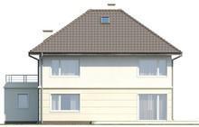 Проект дома с террасой, расположенной над гаражом