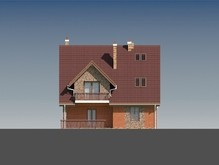 Красивый загородный дом с мансардой в классическом стиле