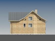 Проект трехэтажного классического особняка с кирпичным фасадом