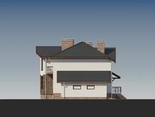 Двухэтажный запоминающийся коттедж с многоскатной крышей