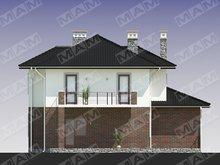 Элегантный загородный коттедж с кирпичным фасадом