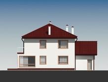 Элегантный коттедж с гаражом и с большими окнами