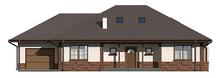 Большой дачный коттедж с мансардой и гаражом