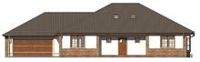 Проект традиционного просторного большого дома с мансардой