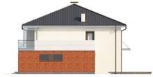 Проект двухэтажного дома с застекленным балконом над гаражом