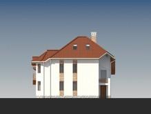 Проект оригинального дома с двумя кухнями и зимним садом