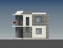 Проект современного дома с плоской кровлей